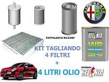 KIT TAGLIANDO 4 FILTRI + 4 LT OLIO ALFA ROMEO GIULIETTA 1.6 Mutijet Diesel