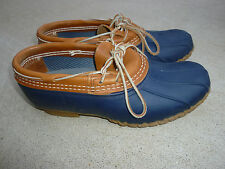 CLASSIC LL Bean Boot Rubber Moc BLUE Sz 7 Ladies USA L.L.