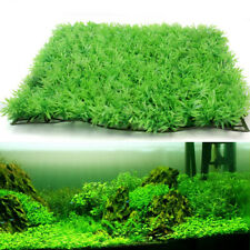 1pc Green Plastic Water Grass Plant Lawn Fish Tank Landscape Aquarium Decor Home