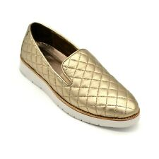 Johnston & Murphy Portia Womens Loafer Gold Met Glove Leather Size 8.5 M New