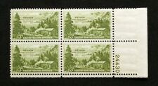 US Plate Blocks Stamps #999 ~ 1951NEVADA CENTENNIAL 3c Plate Block of 4 MNH