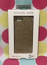 NEW MICHAEL KORS GOLD GLITTER  SNAP ON CASE FOR IPHONE 7 & 8  New in Box $88