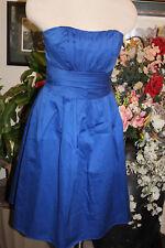 Davids Bridal blue cotton formal bridesmaids cocktail dress 2
