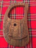 Lyre Harp 8 Strings with Tunning Key Free Carrying Case/Lyra harp