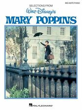 Big Note Vocal Selections Mary Poppins FEED THE BIRDS Voice Piano Music Book