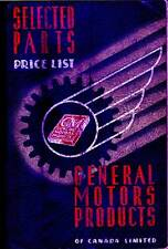 1941 GM General Motors Canada Selected Parts Price List  No.173 Factory Original
