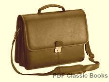 LEATHERWORK Leather Handbag Belt Glove Purse PATTERN CD