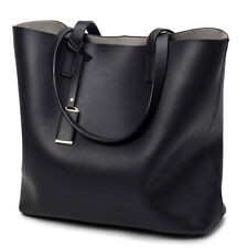 Women Black Leather Tote Purse Handbag Crossbody Satchel Shoulder Messenger Bag