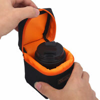 Padded Thick Camera Lens Bag Shockproof Storage Pouch Case For DSLR Camera Lens