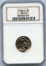 1936-D Buffalo Nickel 5c NGC MS 65