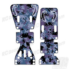 T-Maxx / E-Maxx INTEGY Skid Plate Protectors Digital Camo Blue - Traxxas