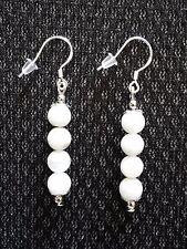 Boucles d'oreille perles de lune naturelle en argent 925 fait main