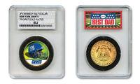 NEW YORK GIANTS NFL *GREATEST DAD* JFK 24KT Gold Clad Coin SPECIAL LTD. CASE