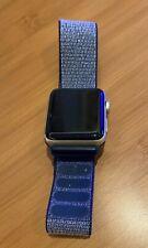 apple watch series 2 aluminum gold case GPS w/ blue sport loop