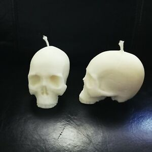 Small skull candle x2