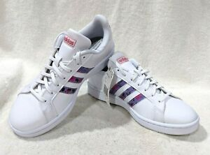 adidas Grand Court White/Multicolor Women's Sneakers-Size 8 NWB EG0536