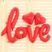 Red Love Script Foil Balloon Bundle