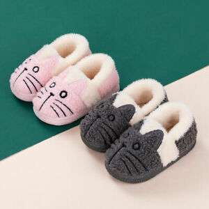 Women's Cozy Comfy Slippers Funny Fluffy Indoor Warm Lovely Cat House Shoes UK