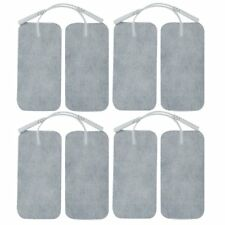 8 x Elettrodo pads per TENS EMS Massager Riutilizzabili 5x10cm, interfaccia 2mm