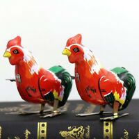 Lovely Metal Cartoon Cock Animal Clockwork Wind Up Toy For Kid Children Gift