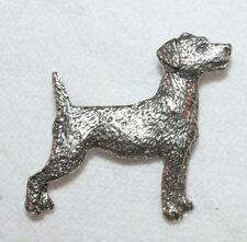 Jack Russell Terrier Dog Harris Fine PEWTER PIN Jewelry Art USA Made