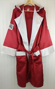 NEW Cleto Reyes Satin Boxing Robe w Hood Red with White Trim Mens M MMA NWOT