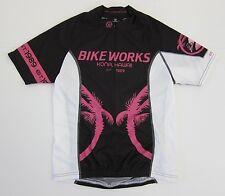 Canari Bike Works Kona Hawaii Pink Black Cycling Jersey Women's Size Medium