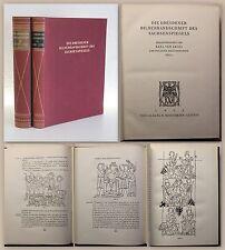 Amira Dresdner Bilderhandschrift des Sachsenspiegels 1925 Bd 2 Kommentarband xz