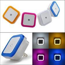 4PCS Auto LED Light Induction Sensor Control Bedside Night Light In Wall Lamp US
