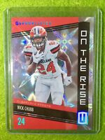 NICK CHUBB CARD JERSEY #24 GALACTIC SSP PRIZM Baker Mayfield's RB BROWNS SP 2019