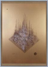Gran impresión escultura de sonido Abstracto Firmado Serigrafía impresión de pantalla Kraftwerk
