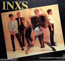 "Inxs ""On Atco Cassettes & Records"" U.S. Promo Poster From 1984 - Group Posing"