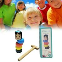 UNBREAKABLE WOODEN MAN MAGIC TOY For KIDS GIFTS NEW V5Q5