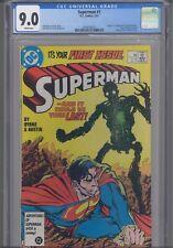 Superman #1 CGC 9.0 1987 DC Comics John Byrne Story, Cover 1st App New Metalo
