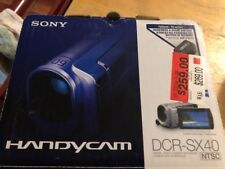 BRAND NEW IN BOX Sony Handycam DCR-SX40 4GB Camcorder - BLUE UPC 027242763142