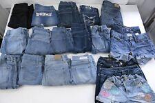 (19) Girls Jeans Jeggings Shorts Lot Old Navy Vigoss Wallflower Aeropostale
