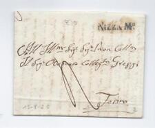 Prefilatelica prephilatelic 1825 da Nizza per Torino