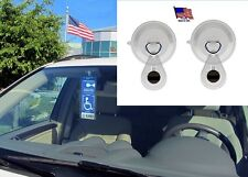 2 Suction Cups with Magnet Charms by JL Safety. Use anywhere on Windshield