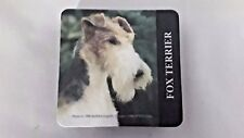 Fox Terrier Rubber Backed Coasters - 4 Coasters