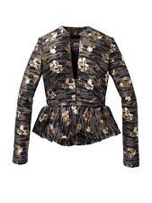 Bird by Juicy Couture Joni Peplum Jacket Lily Pond Jacquard XS NWT $398