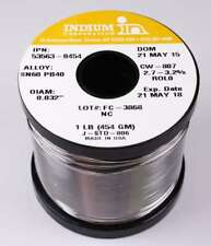Indium 53563-0454 60/40 No Clean Wire Solder, 2.7-3.2% Core .032in. 1lb