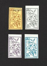 Ile Roy Fantasies Protection of Nature 4v Flowers incl SPECIMEN MNH ex Jim Czyl
