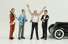 Figurine Gangster Mafia Räuber 4 Figures Set 1:18 Figurines American Diorama
