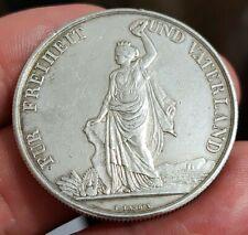 Monnaie argent 5 Francs concours Tir de Zurich 1872 Suisse