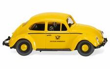 Yellow VW Beetle 1200 German Postal Service WIKING 1/87 Plastic Car HO Scale