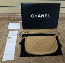 *Chanel CC Matelasse Chain Shoulder Bag Caviar Skin Beige/Gold  w/ Box & Receipt