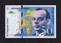 F.C. FRANCIA FRANCE , 50 FRANCOS 1994 , EBC- ( aXF ) , 2 DOBLECES , P.157Aa .