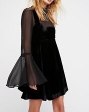 Free People Black Counting Stars Mini Dress XS Ship Next Day