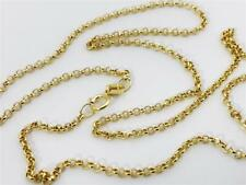 """14K 20"""" Inches 1.9mm Yellow Gold Classic Round Rolo Necklace Pendant Chain 14kt"""