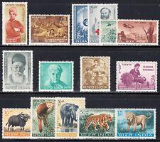 INDIA 1963 COMPLETE COMMEMORATIVE YEAR SET SCOTT 361A/379 MINT